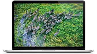 MacBook Pro Retina 15-inch 256GB front