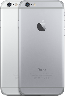 iPhone 6 Finishes Space Grey Silver