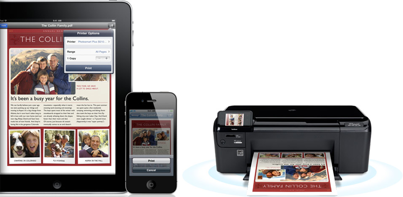 iPad iPod Touch AirPrint