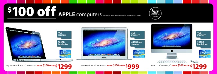 Myer Boxing Day Apple Mac Sale Mac Prices Australia