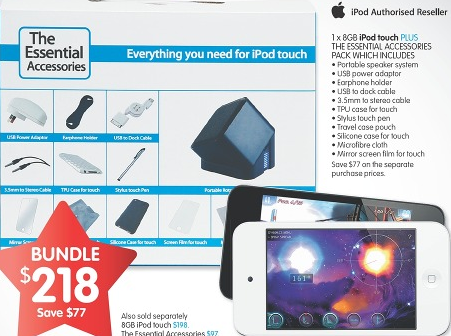 BigW iPod Touch Christmas bundle deal