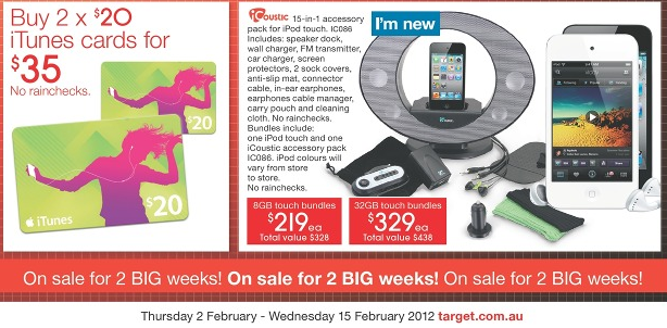 Target February iTunes Card & iPod Bundle Sales - Mac Prices
