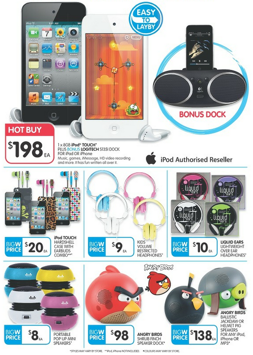 Big W Toy Sale - iPod Touch, Accessories Specials - Mac