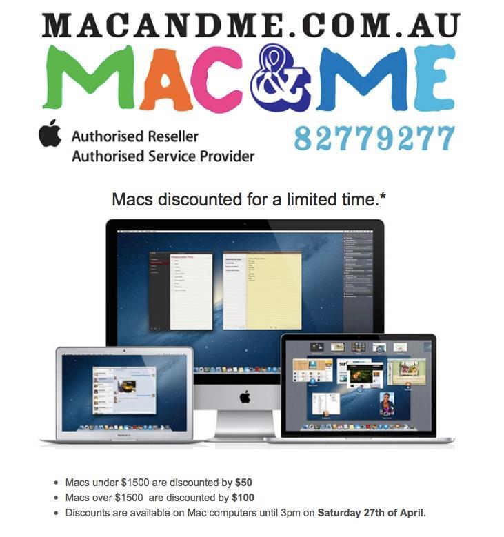 Mac & Me Sale