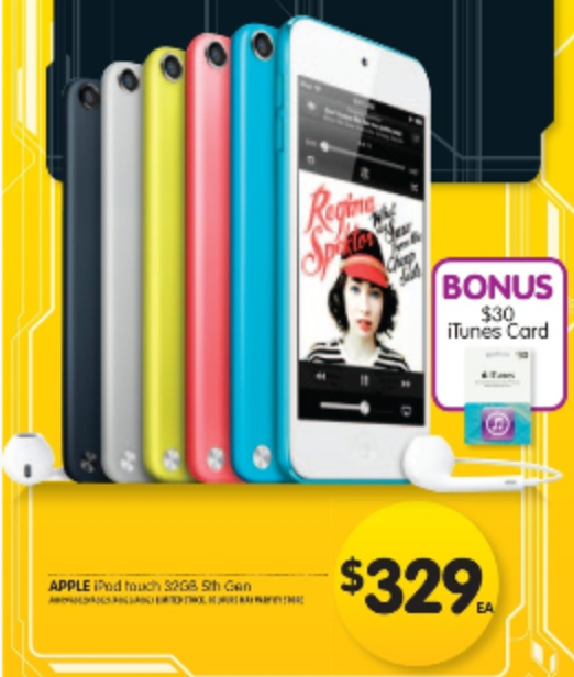 iPod Touch 5th Generation bonus itunes