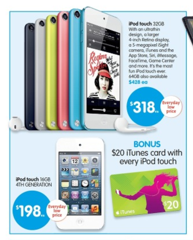 Big W Tax Time Sale - iPhone, iPod & iTunes Specials - Mac