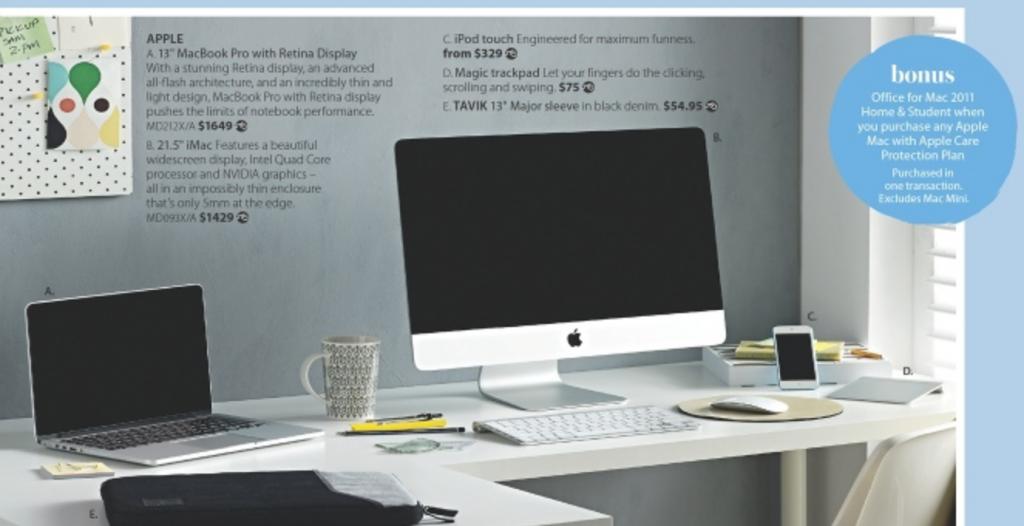 Myer august apple mac