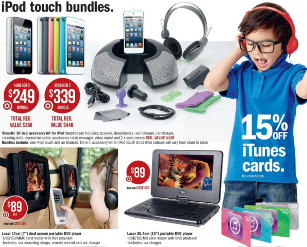 Target august ipod touch offer
