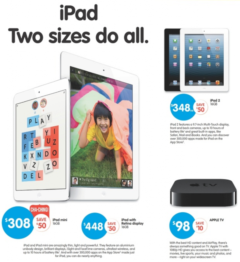 Big W iPad sale