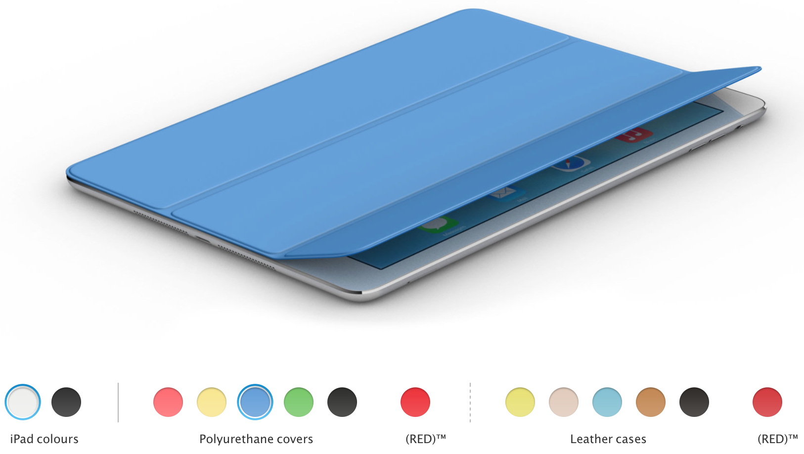 iPad Air cover & case color choices