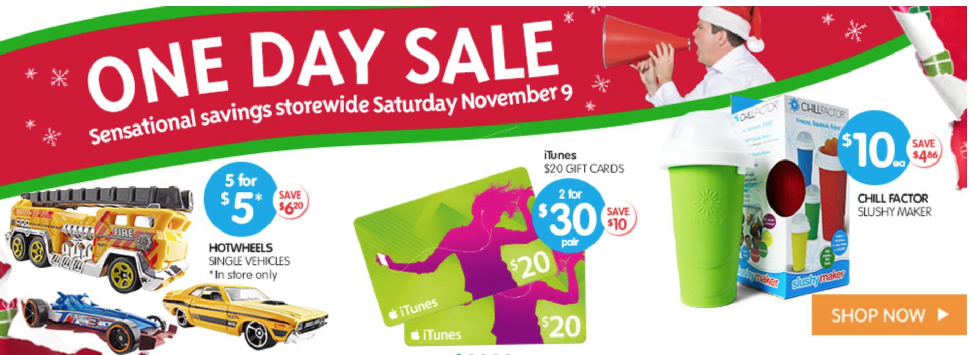 November saturday big w sale