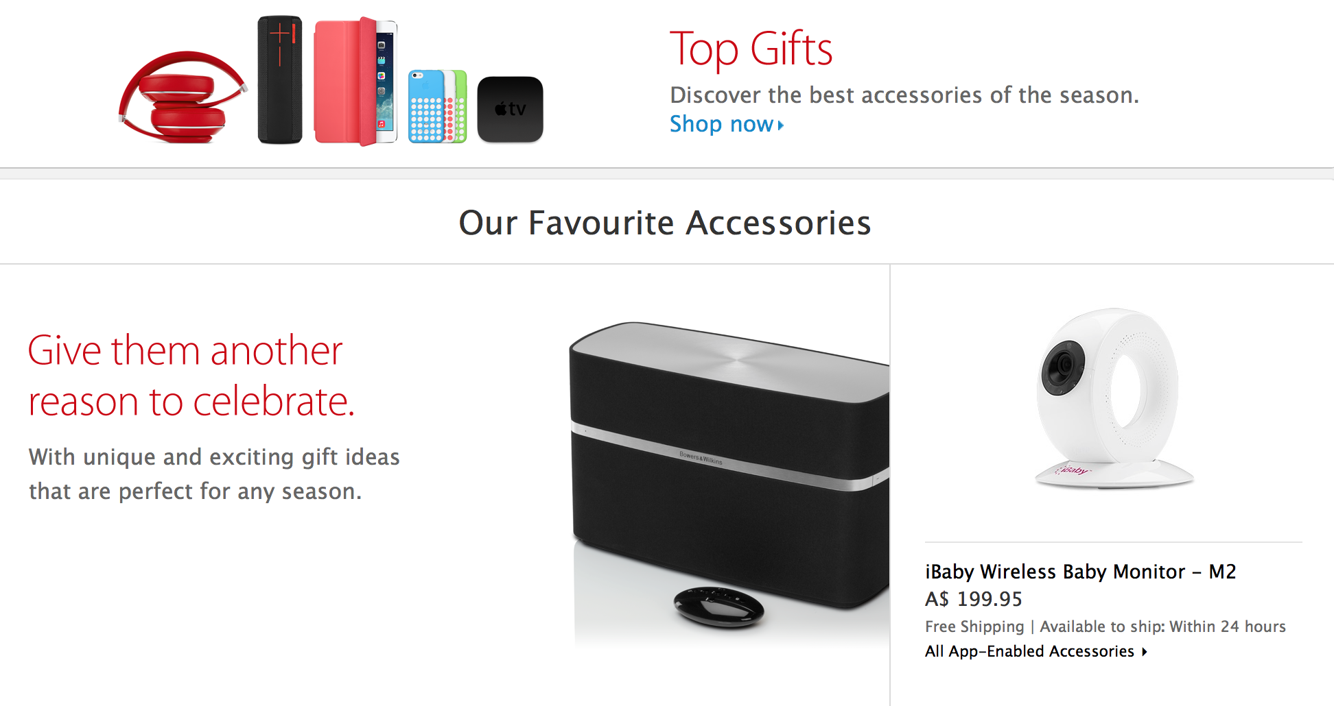Apple Australia releases 2013 Christmas Top Gifts