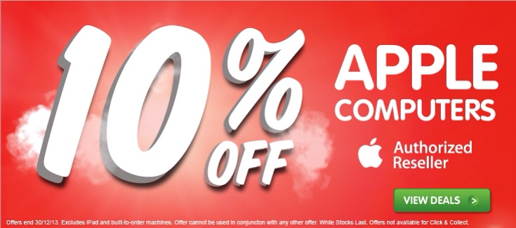 Dick Smith 2013 End of year sale – Apple Mac, Accessory discounts