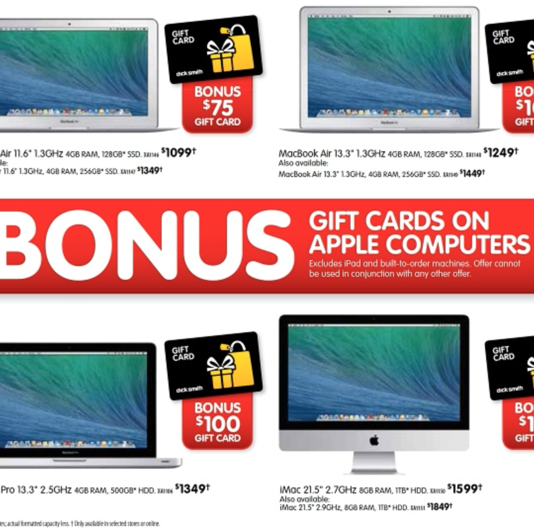 Dick Smith Super Sale – Mac Bonus