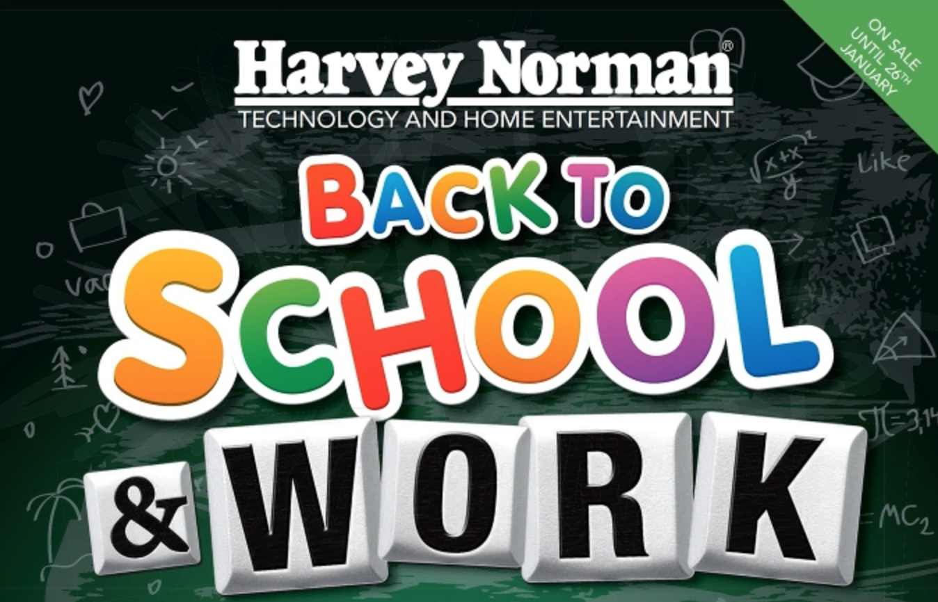 Harvey Norman 2014 back to school & work sale