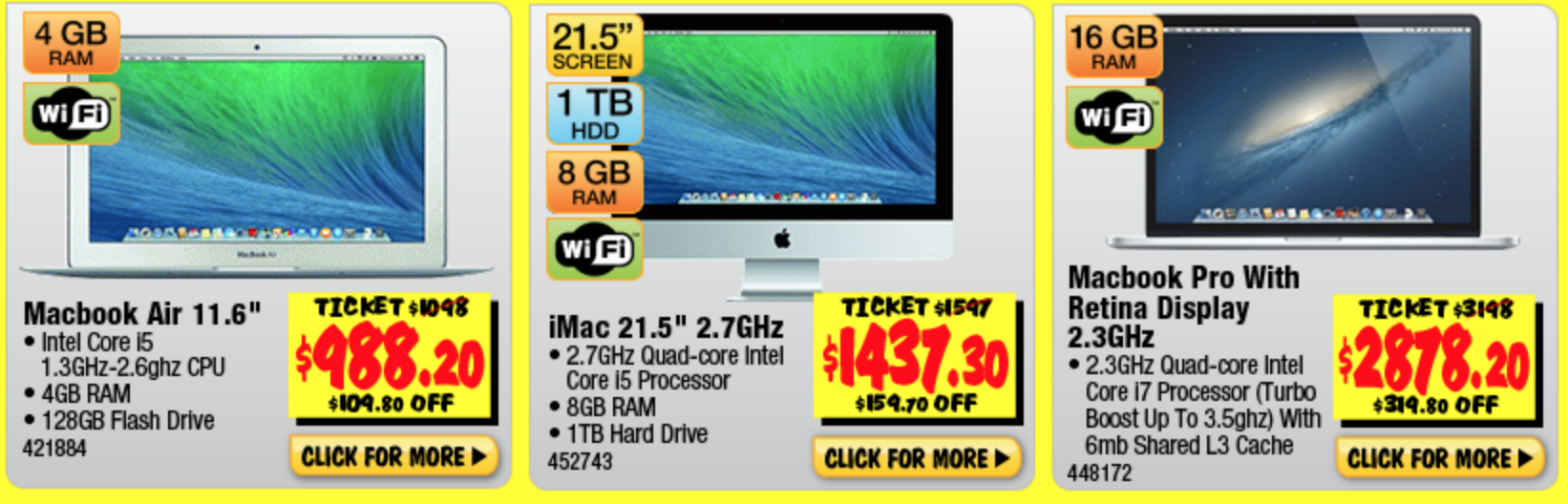 10% off MacBook Pro MacBook Air iMac