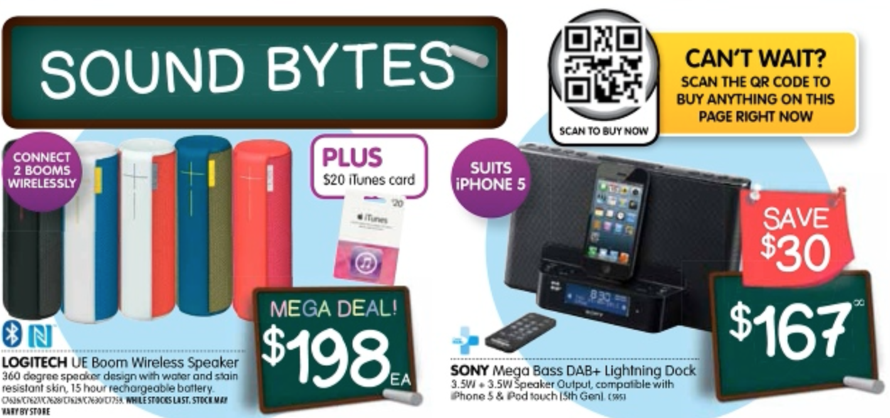 logitech speaker dick smith back to school