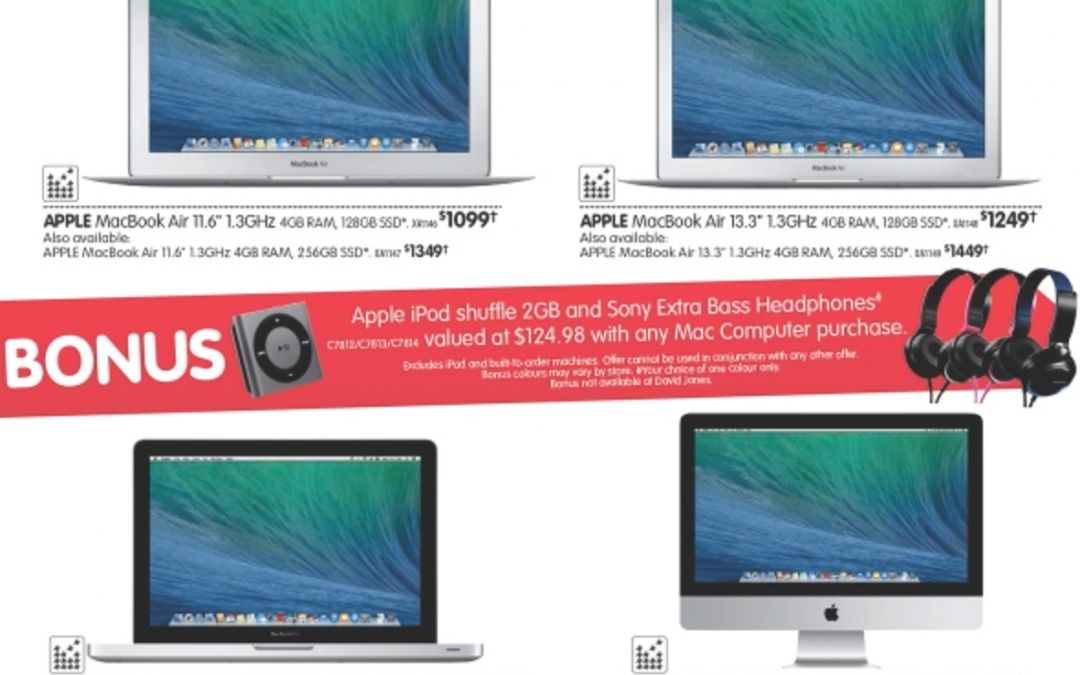 Bonus offers with Mac, iPod purchase & more – Dick Smith