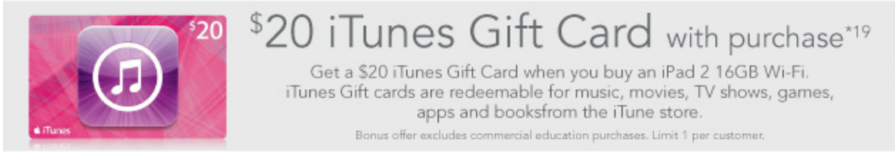 Harvey Norman free iTunes Gift Card