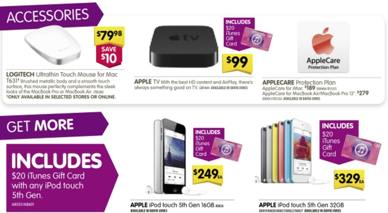 Dick Smith Save More iPod iTunes