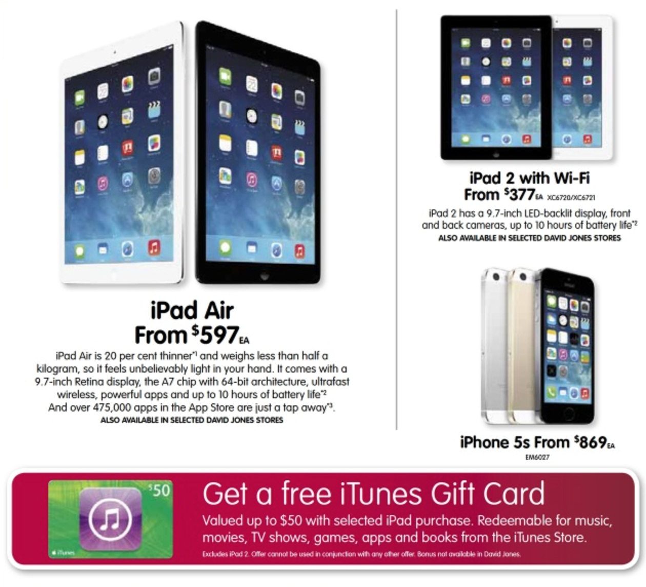 Dick Smith March ipad sale