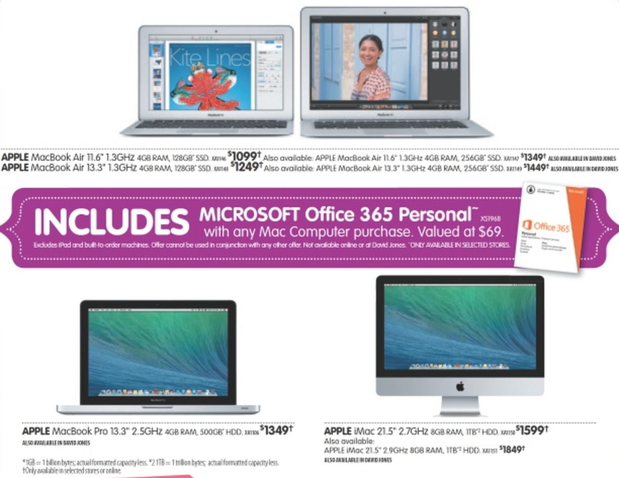 Dick Smith mothers day apple mac bonus