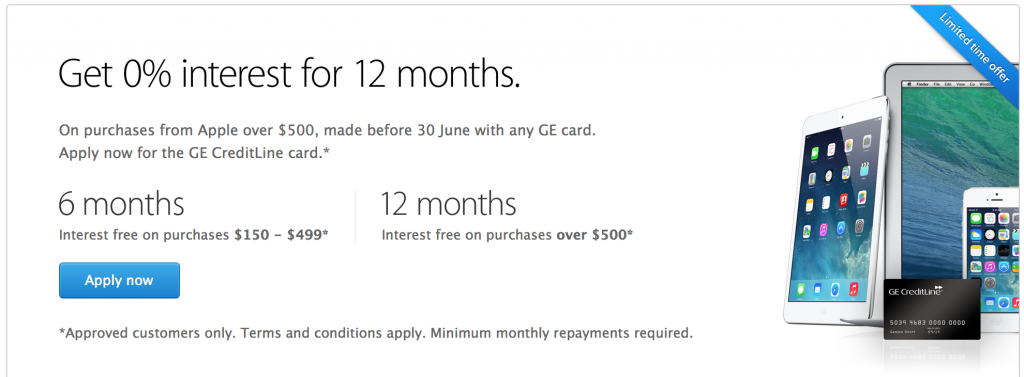Apple interest free deal