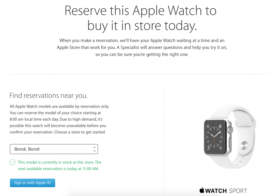 Apple Watch Reserve