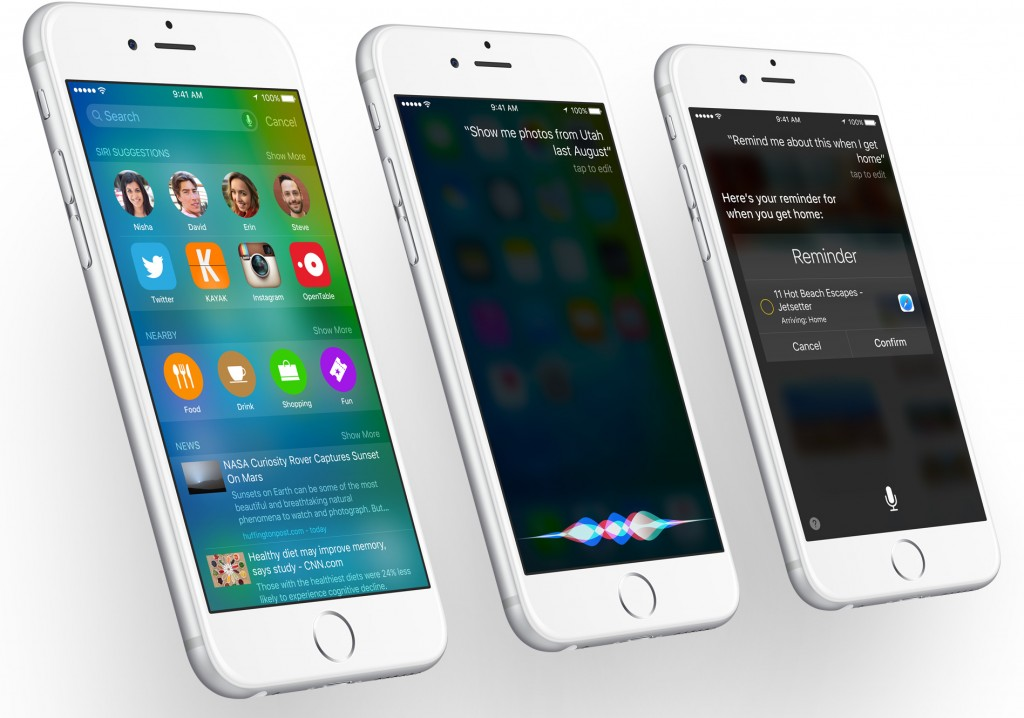 iOS 9 search and Siri