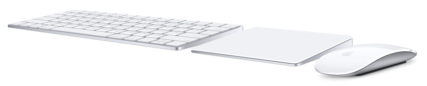 all-new Magic Keyboard, Magic Mouse 2 and Magic Trackpad 2