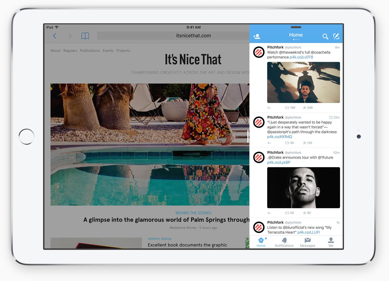 iPad Mini 4 Slide Over