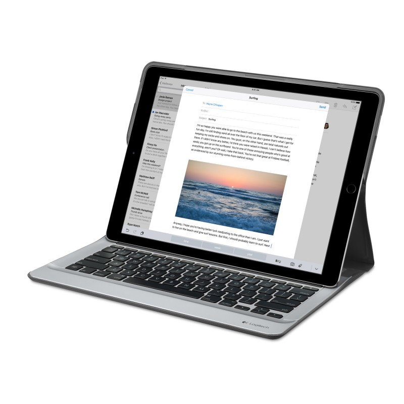 Logitech CREATE Backlit Keyboard Case for iPad Pro Black