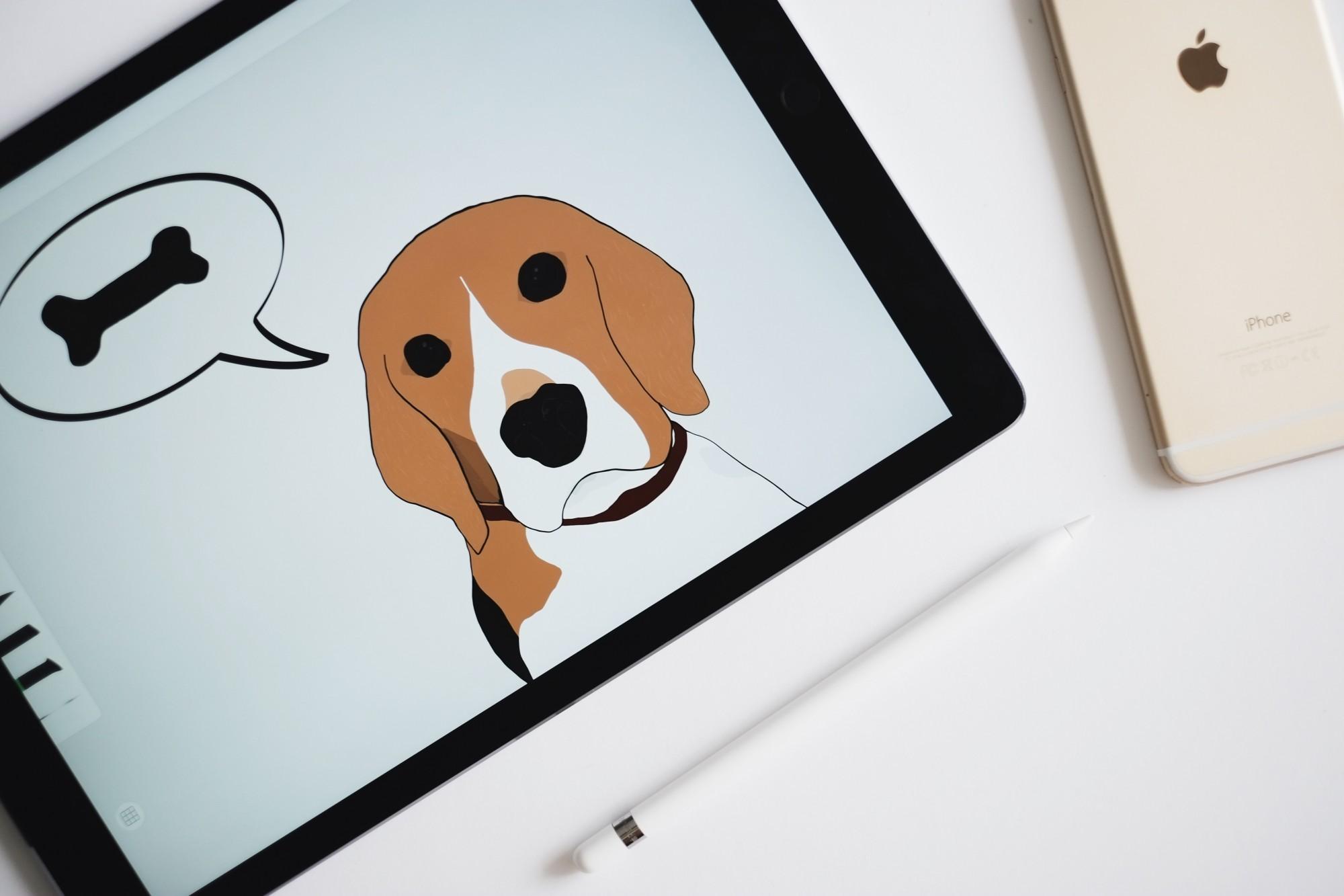 Apple Pencil Illustration iPad Pro