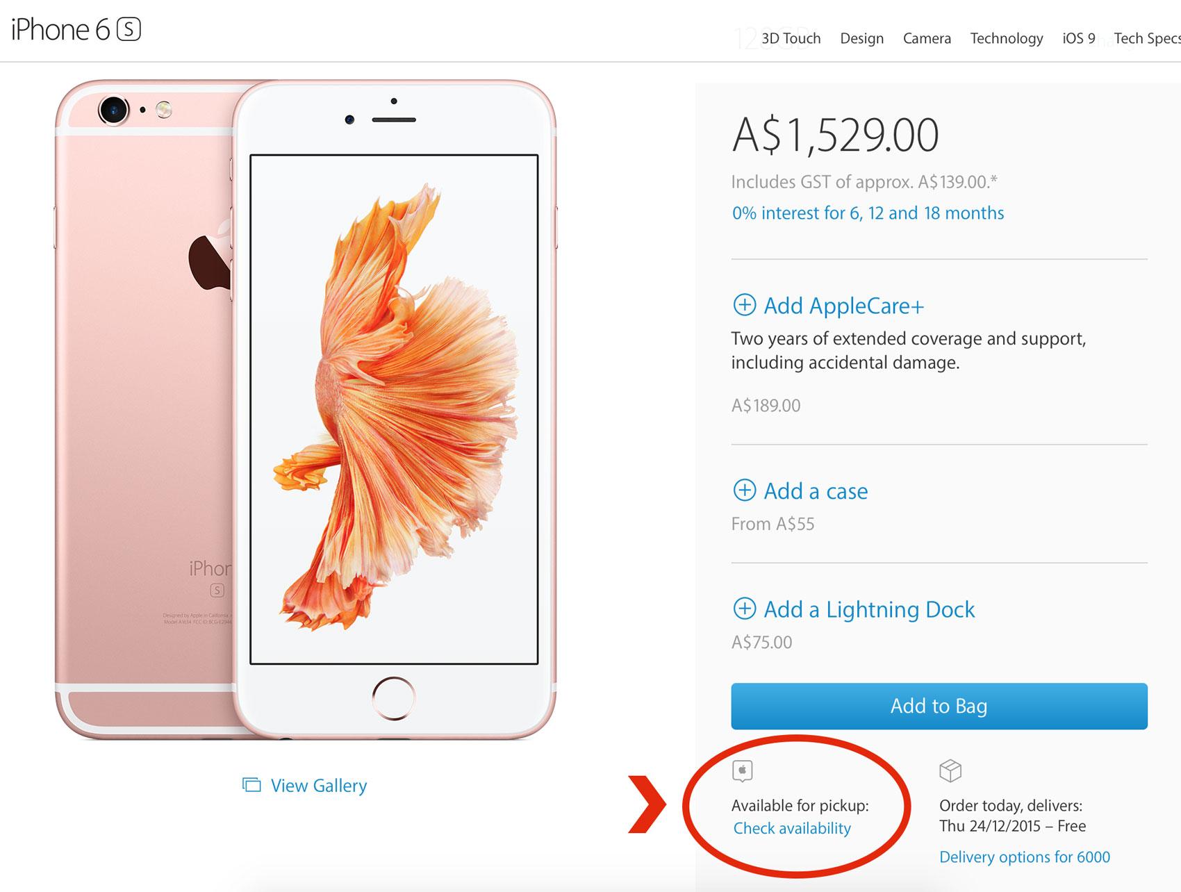 Apple Store Pickup