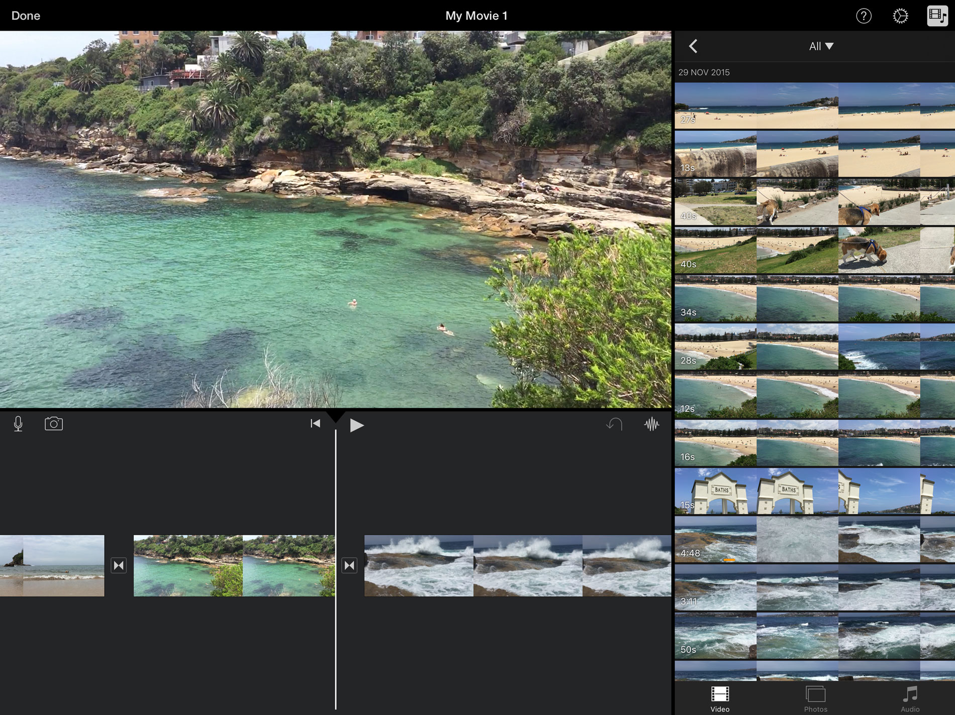 iPad Pro Video Editing in iMovie