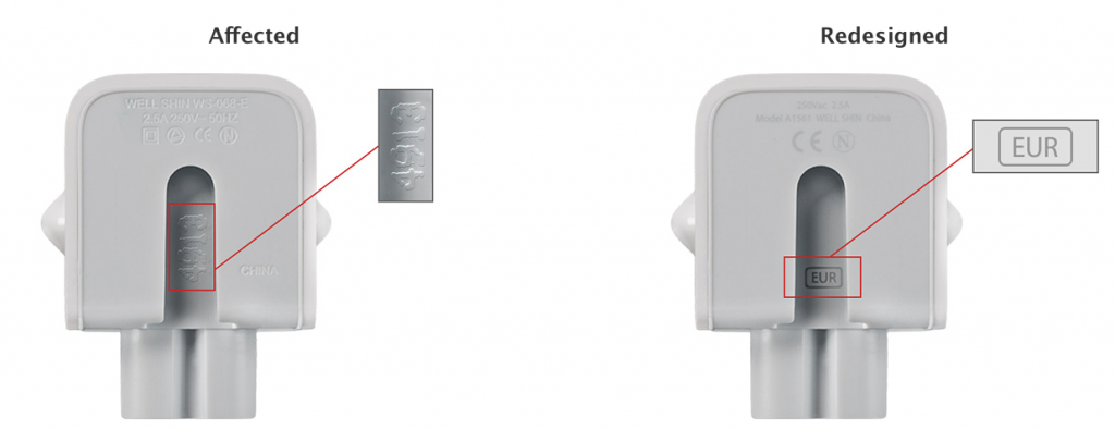 Apple AC Wall Charger Recall