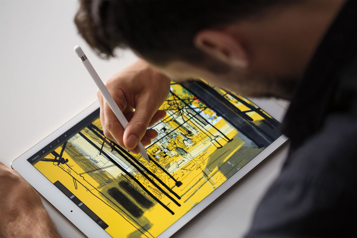 Drawing iPad Pro with Apple Pencil