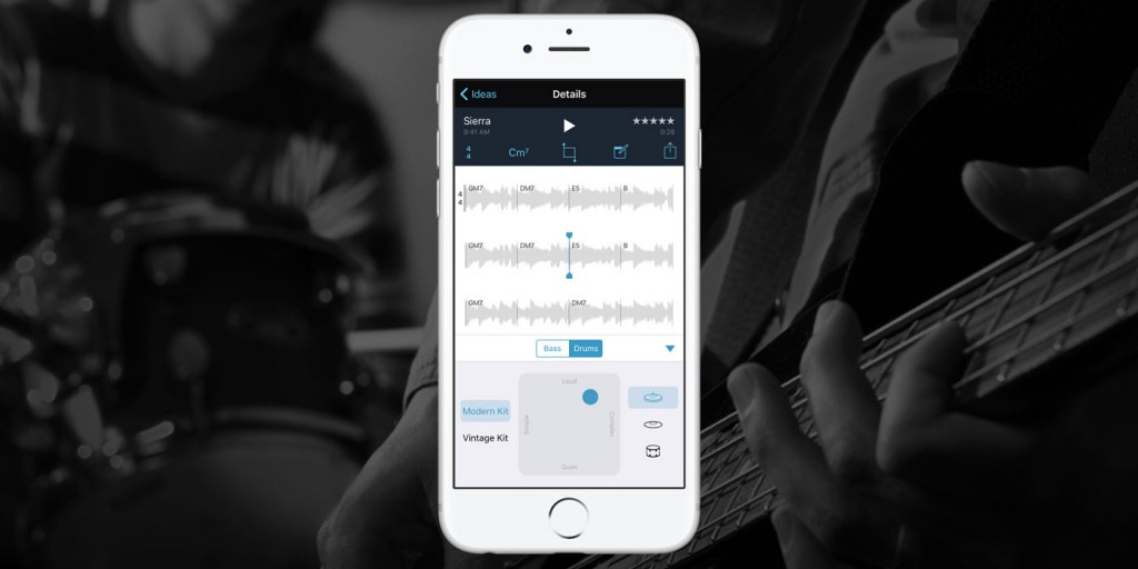 Music Memos App backing band