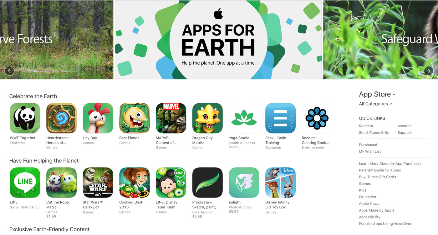 Apps For Earth App Store