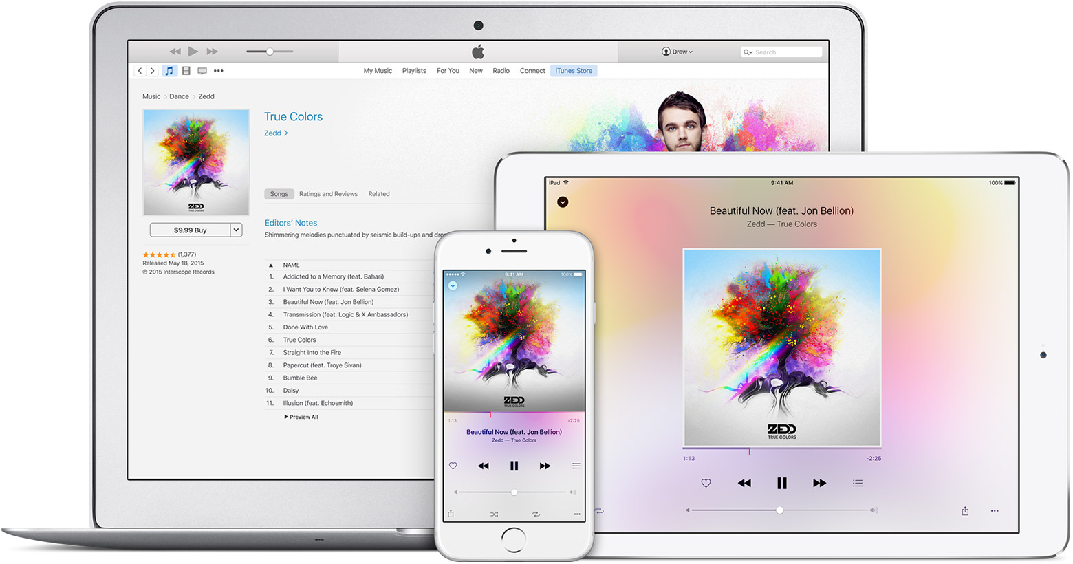 Apple Music On iPhone, iPad and Macbook Air