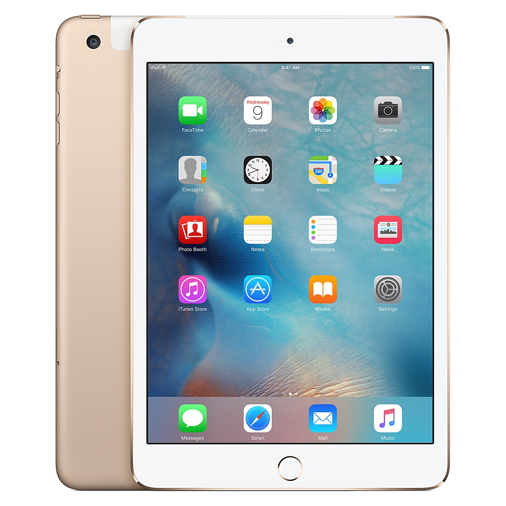 Refurbished iPad Mini 3 Gold Front