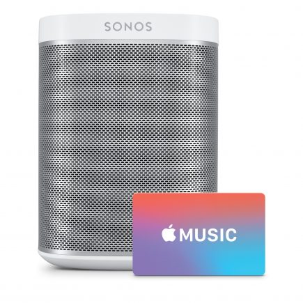Sonos Play 1 Wireless Speaker With Apple Music Gift Card