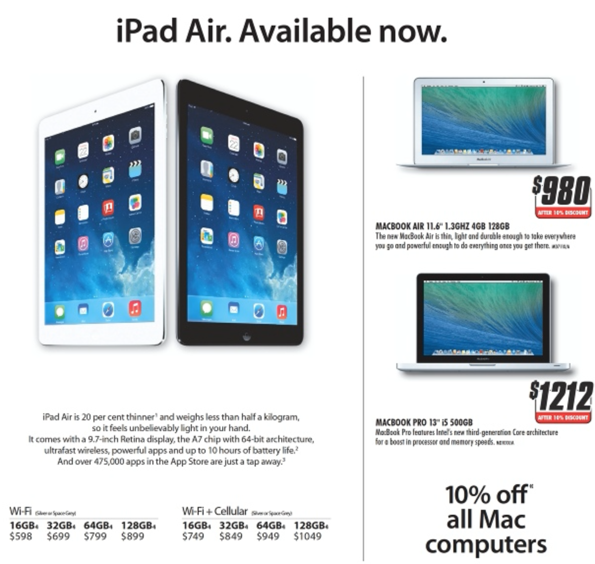 The Good Guys Mac Sale January 2014