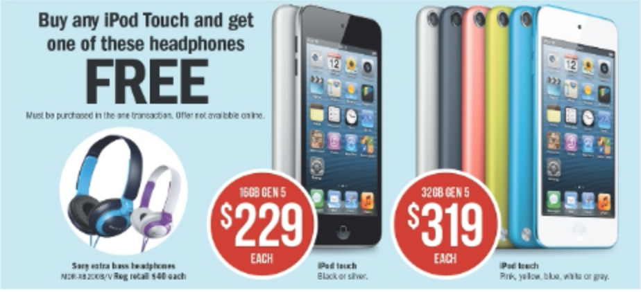 iPod Touch Australia Day bundle Target