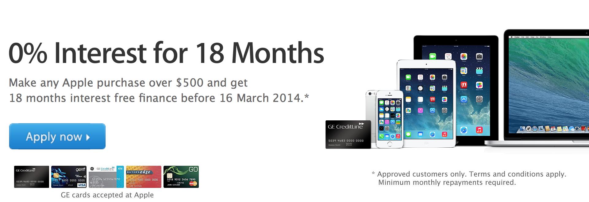 Apple interest free mac ipad