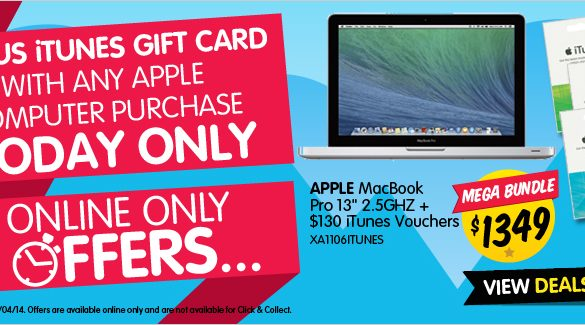 Dick Smith bonus itunes cards