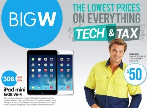 Big W tech tax sale