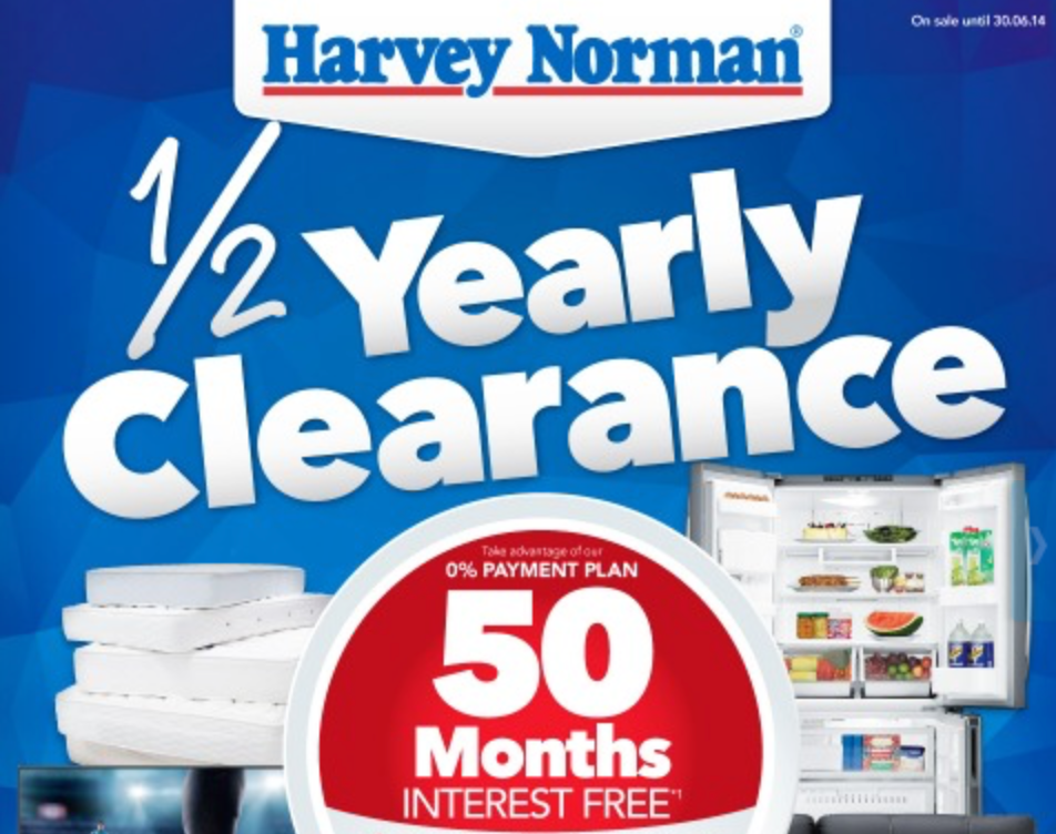 Harvey Norman mid year sale
