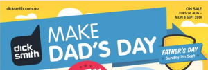 Dick Smith fathers day sale