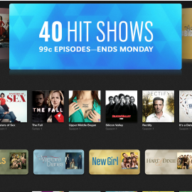 iTunes TV Sale